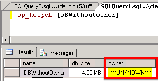 Verify database owner